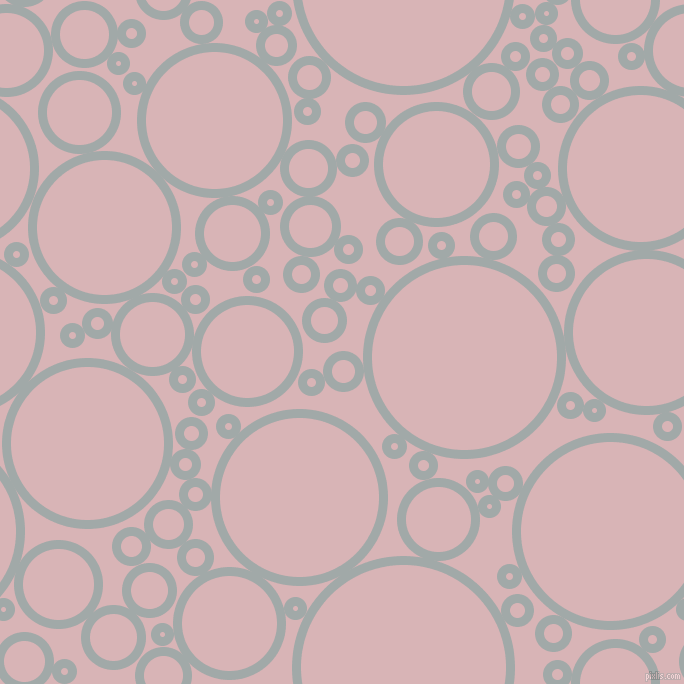 bubbles, circles, sponge, big, medium, small, 9 pixel line width, Hit Grey and Pink Flare circles bubbles sponge soap seamless tileable
