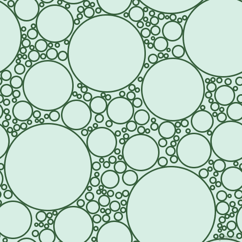 bubbles, circles, sponge, big, medium, small, 3 pixel line width, Hunter Green and White Ice circles bubbles sponge soap seamless tileable