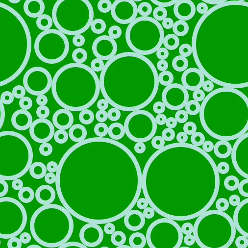 bubbles, circles, sponge, big, medium, small, 9 pixel line width, Ice Cold and Islamic Green circles bubbles sponge soap seamless tileable