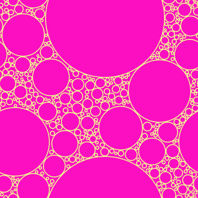 bubbles, circles, sponge, big, medium, small, 3 pixel line width, Jonquil and Shocking Pink circles bubbles sponge soap seamless tileable
