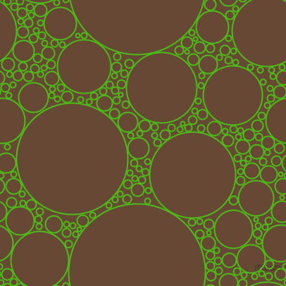 bubbles, circles, sponge, big, medium, small, 2 pixel line width, Kelly Green and Jambalaya circles bubbles sponge soap seamless tileable