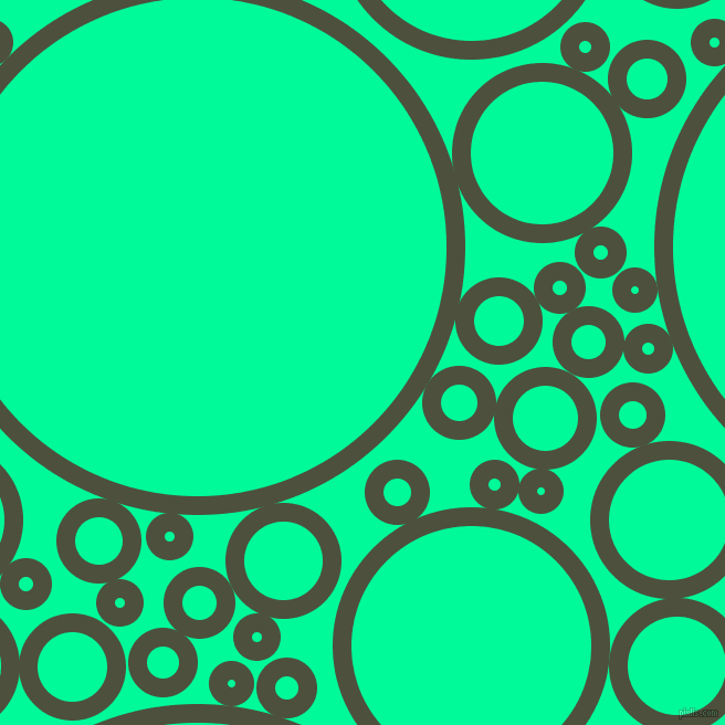 bubbles, circles, sponge, big, medium, small, 17 pixel line widthKelp and Medium Spring Green circles bubbles sponge soap seamless tileable