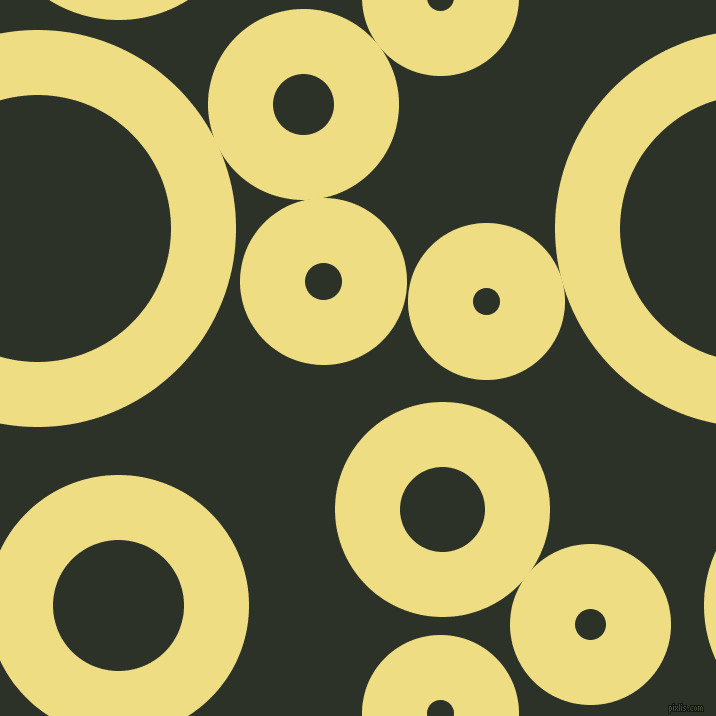 bubbles, circles, sponge, big, medium, small, 65 pixel line width, Light Goldenrod and Black Forest circles bubbles sponge soap seamless tileable