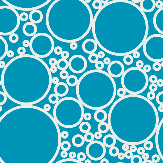 bubbles, circles, sponge, big, medium, small, 9 pixel line width, Lily White and Bondi Blue circles bubbles sponge soap seamless tileable