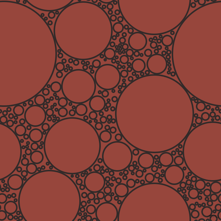 bubbles, circles, sponge, big, medium, small, 5 pixel line width, Livid Brown and Mojo circles bubbles sponge soap seamless tileable
