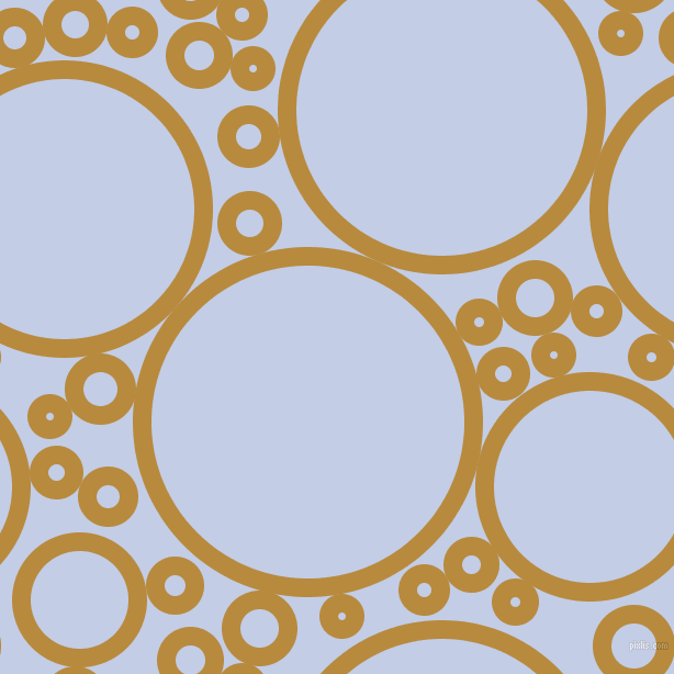 bubbles, circles, sponge, big, medium, small, 17 pixel line width, Marigold and Periwinkle circles bubbles sponge soap seamless tileable