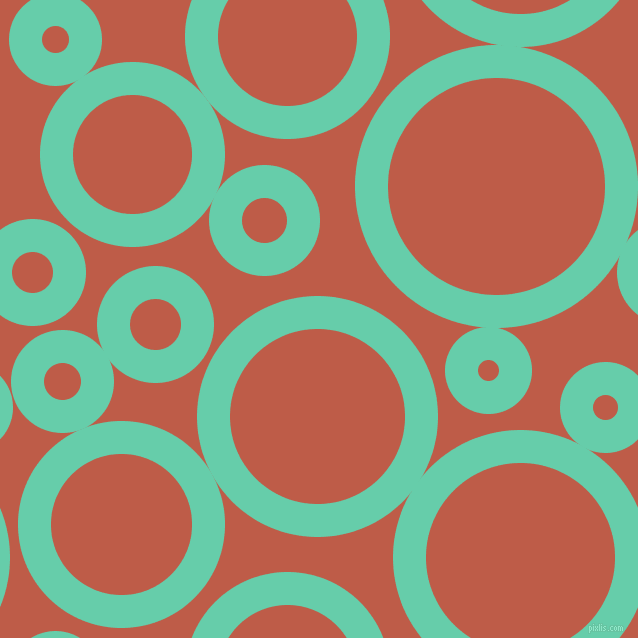 bubbles, circles, sponge, big, medium, small, 33 pixel line widthMedium Aquamarine and Flame Pea circles bubbles sponge soap seamless tileable