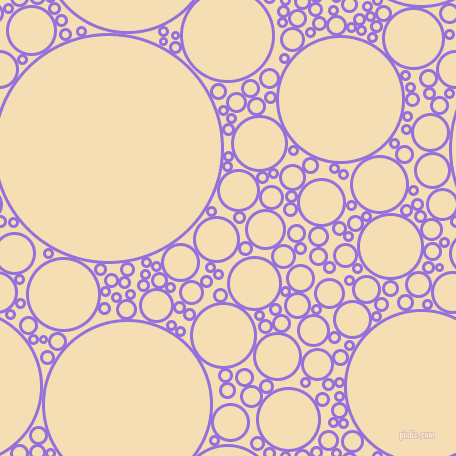 bubbles, circles, sponge, big, medium, small, 3 pixel line width, Medium Purple and Wheat circles bubbles sponge soap seamless tileable
