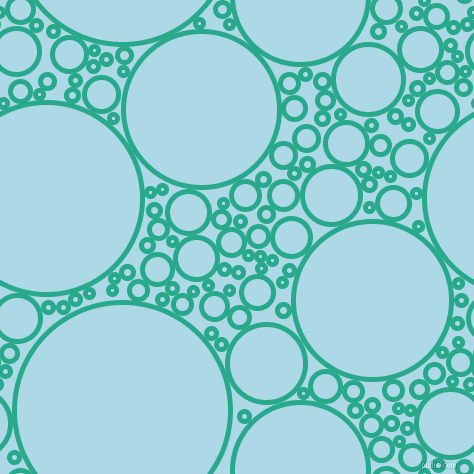 bubbles, circles, sponge, big, medium, small, 5 pixel line width, Niagara and Light Blue circles bubbles sponge soap seamless tileable