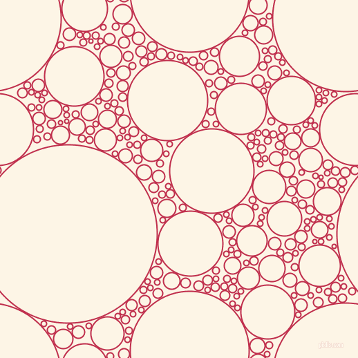 bubbles, circles, sponge, big, medium, small, 2 pixel line width, Old Rose and Old Lace circles bubbles sponge soap seamless tileable