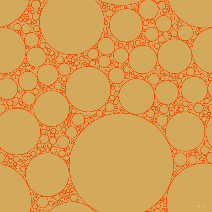 bubbles, circles, sponge, big, medium, small, 2 pixel line width, Orange Red and Apache circles bubbles sponge soap seamless tileable