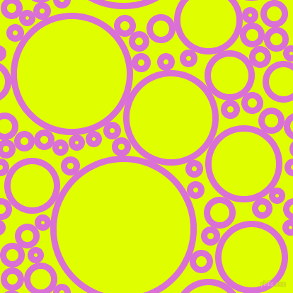 bubbles, circles, sponge, big, medium, small, 9 pixel line width, Orchid and Chartreuse Yellow circles bubbles sponge soap seamless tileable