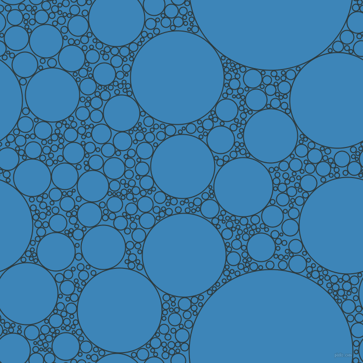 bubbles, circles, sponge, big, medium, small, 2 pixel line width, Outer Space and Curious Blue circles bubbles sponge soap seamless tileable
