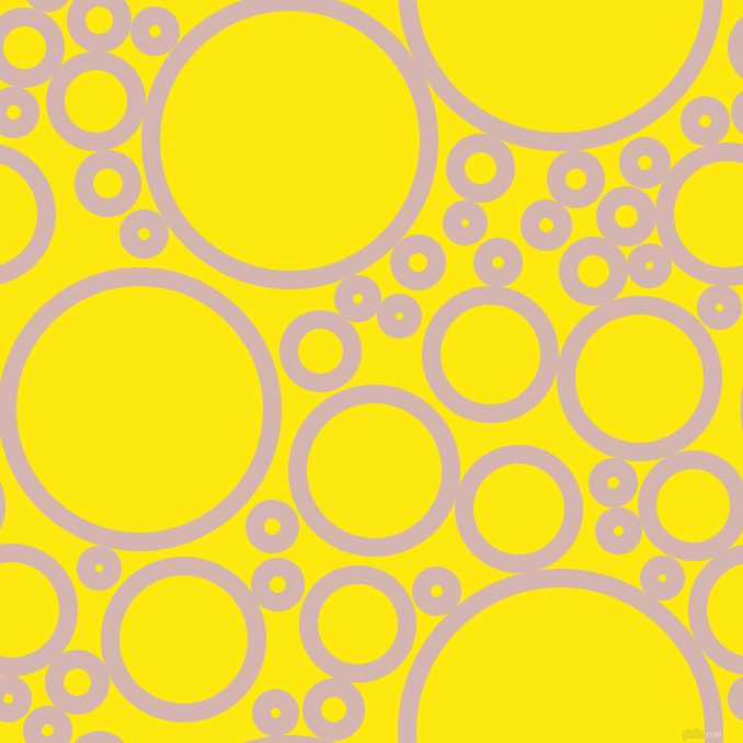 bubbles, circles, sponge, big, medium, small, 17 pixel line width, Oyster Pink and Lemon circles bubbles sponge soap seamless tileable