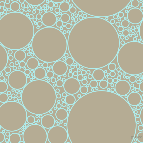 bubbles, circles, sponge, big, medium, small, 3 pixel line width, Pale Turquoise and Bison Hide circles bubbles sponge soap seamless tileable