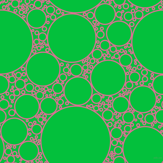 bubbles, circles, sponge, big, medium, small, 5 pixel line width, Pale Violet Red and Dark Pastel Green circles bubbles sponge soap seamless tileable
