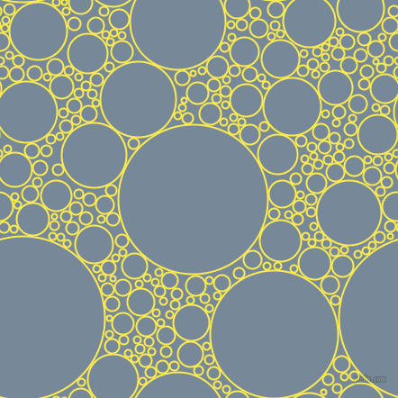 bubbles, circles, sponge, big, medium, small, 2 pixel line width, Paris Daisy and Light Slate Grey circles bubbles sponge soap seamless tileable