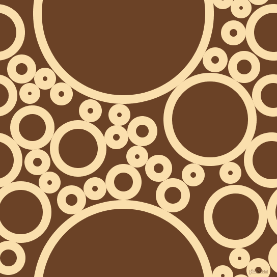 bubbles, circles, sponge, big, medium, small, 17 pixel line width, Peach-Yellow and Semi-Sweet Chocolate circles bubbles sponge soap seamless tileable