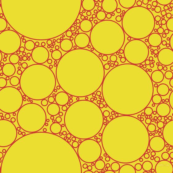 bubbles, circles, sponge, big, medium, small, 3 pixel line width, Persian Red and Golden Fizz circles bubbles sponge soap seamless tileable