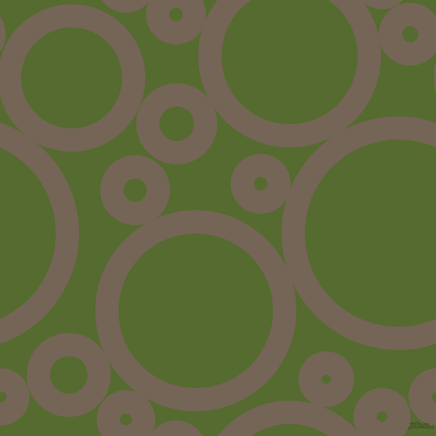 bubbles, circles, sponge, big, medium, small, 33 pixel line width, Pine Cone and Dark Olive Green circles bubbles sponge soap seamless tileable