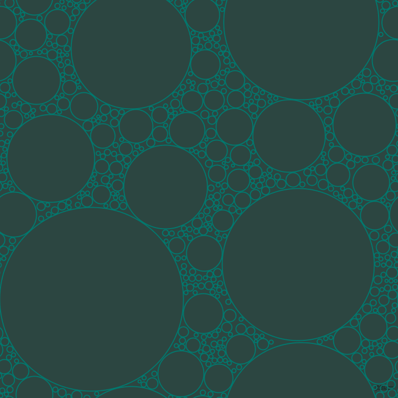bubbles, circles, sponge, big, medium, small, 2 pixel line width, Pine Green and Gable Green circles bubbles sponge soap seamless tileable