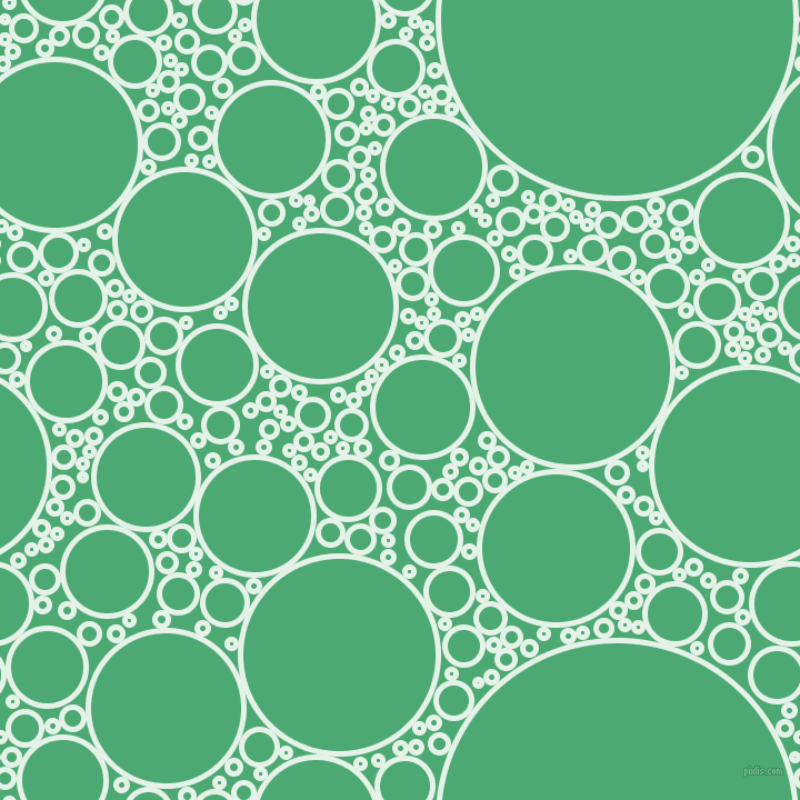 bubbles, circles, sponge, big, medium, small, 5 pixel line width, Polar and Ocean Green circles bubbles sponge soap seamless tileable
