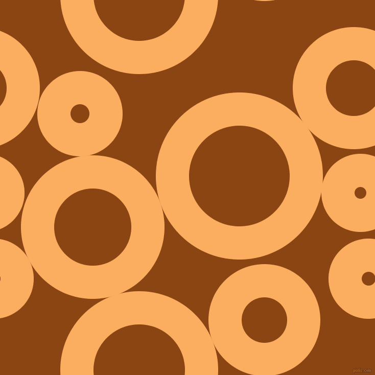 bubbles, circles, sponge, big, medium, small, 65 pixel line width, Rajah and Saddle Brown circles bubbles sponge soap seamless tileable