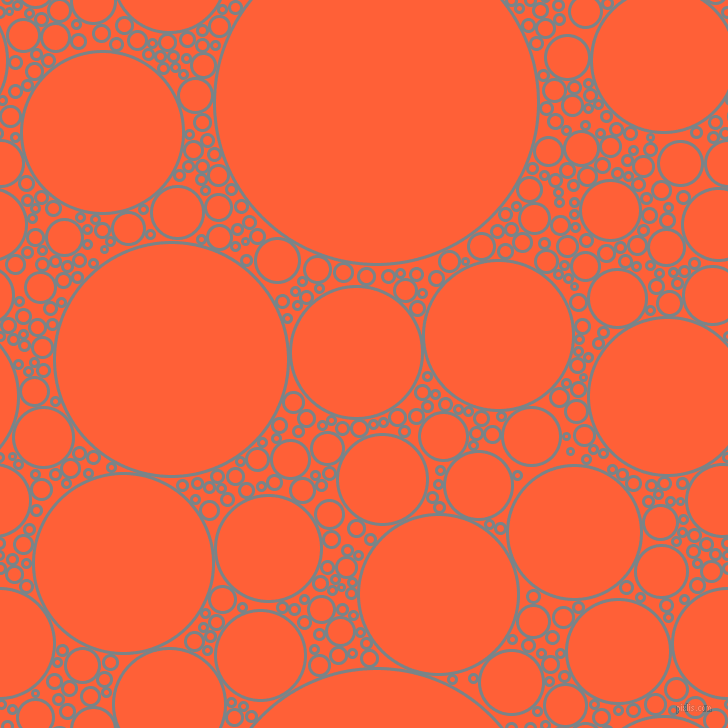 bubbles, circles, sponge, big, medium, small, 3 pixel line width, Regent Grey and Outrageous Orange circles bubbles sponge soap seamless tileable