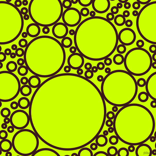 bubbles, circles, sponge, big, medium, small, 9 pixel line width, Rustic Red and Electric Lime circles bubbles sponge soap seamless tileable