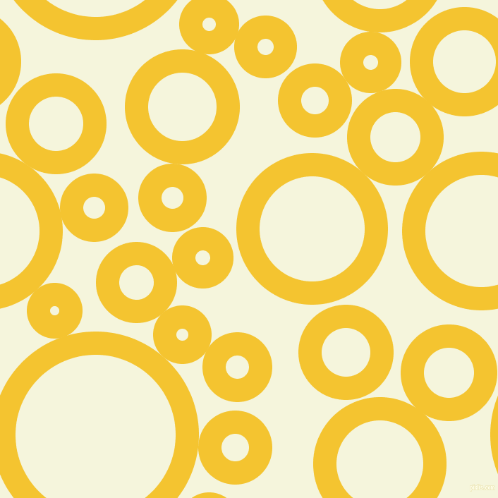 bubbles, circles, sponge, big, medium, small, 33 pixel line width, Saffron and Beige circles bubbles sponge soap seamless tileable