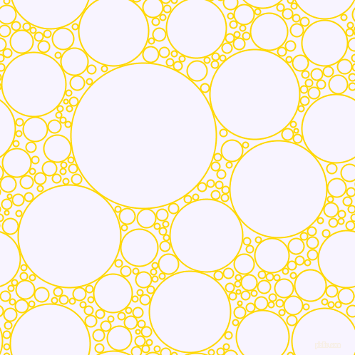 bubbles, circles, sponge, big, medium, small, 2 pixel line width, School Bus Yellow and Magnolia circles bubbles sponge soap seamless tileable