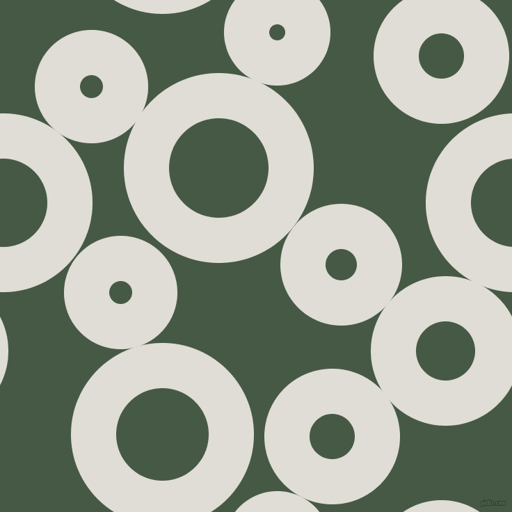bubbles, circles, sponge, big, medium, small, 65 pixel line width, Sea Fog and Grey-Asparagus circles bubbles sponge soap seamless tileable