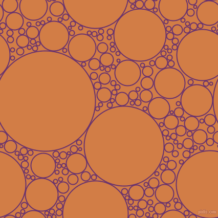 bubbles, circles, sponge, big, medium, small, 2 pixel line width, Seance and Raw Sienna circles bubbles sponge soap seamless tileable