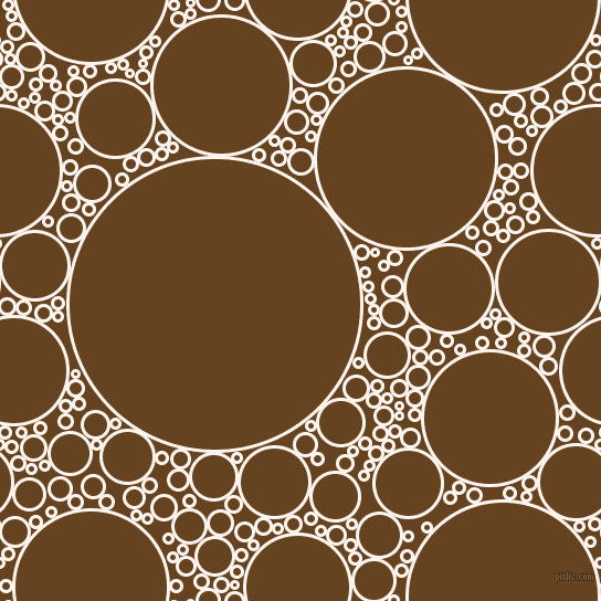bubbles, circles, sponge, big, medium, small, 3 pixel line width, Seashell and Dark Brown circles bubbles sponge soap seamless tileable
