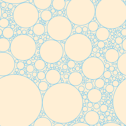 bubbles, circles, sponge, big, medium, small, 2 pixel line width, Sky Blue and Papaya Whip circles bubbles sponge soap seamless tileable