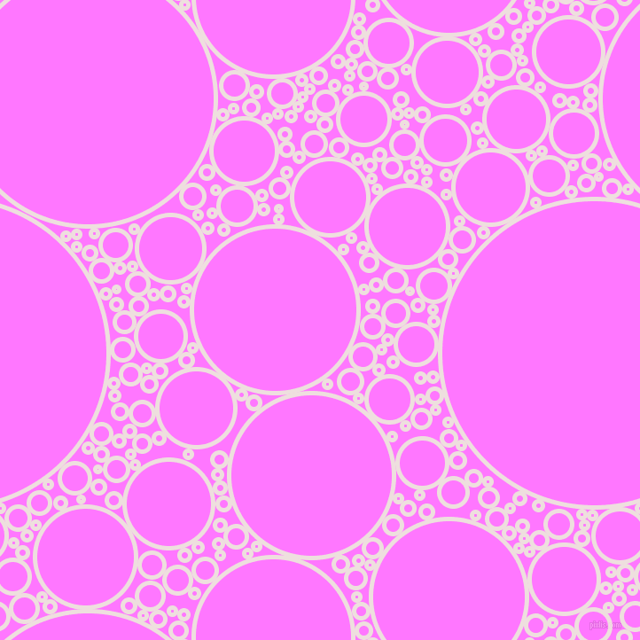 bubbles, circles, sponge, big, medium, small, 5 pixel line width, Soft Peach and Fuchsia Pink circles bubbles sponge soap seamless tileable