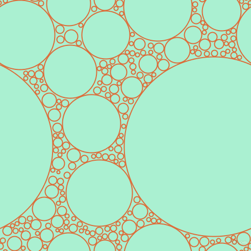bubbles, circles, sponge, big, medium, small, 2 pixel line width, Sorbus and Magic Mint circles bubbles sponge soap seamless tileable