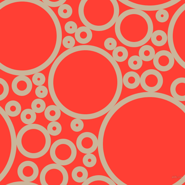 bubbles, circles, sponge, big, medium, small, 17 pixel line width, Sour Dough and Red Orange circles bubbles sponge soap seamless tileable