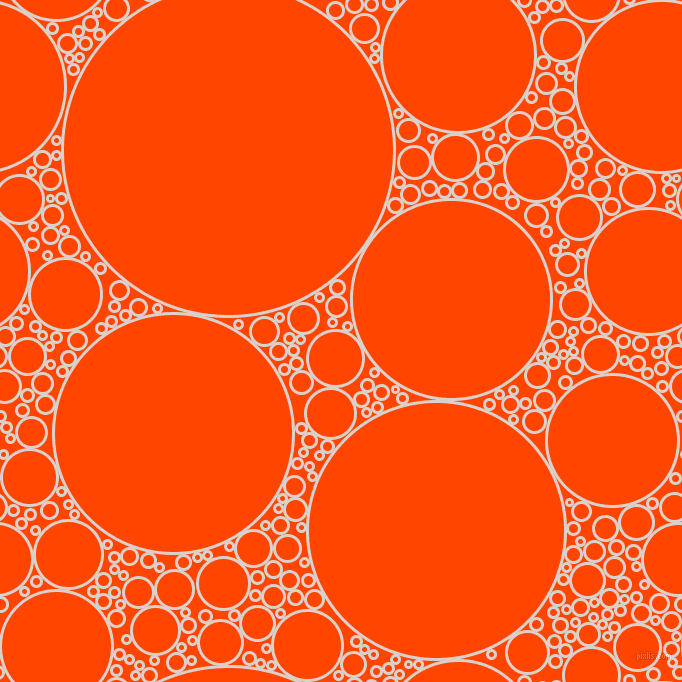 bubbles, circles, sponge, big, medium, small, 3 pixel line width, Swiss Coffee and Orange Red circles bubbles sponge soap seamless tileable
