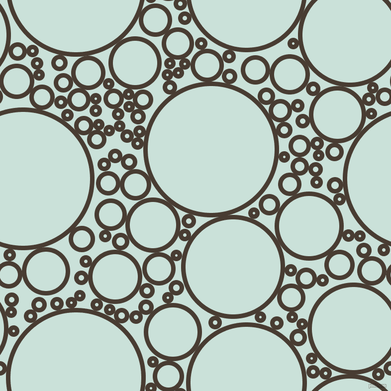 bubbles, circles, sponge, big, medium, small, 9 pixel line width, Taupe and Iceberg circles bubbles sponge soap seamless tileable