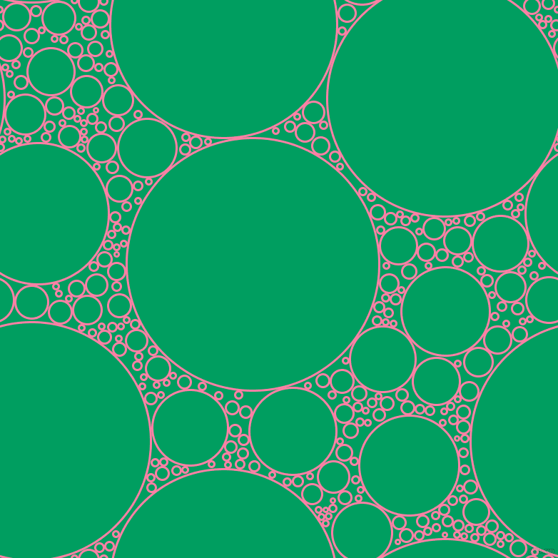 bubbles, circles, sponge, big, medium, small, 3 pixel line width, Tickle Me Pink and Shamrock Green circles bubbles sponge soap seamless tileable