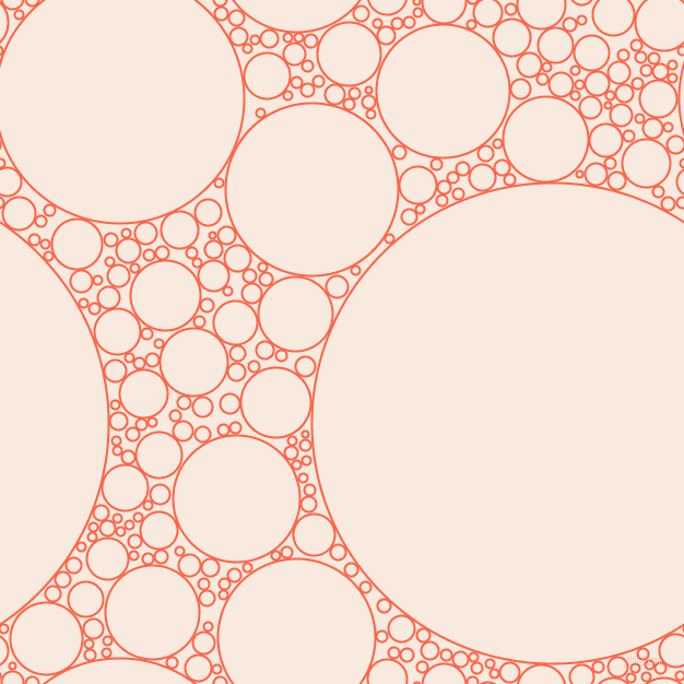 bubbles, circles, sponge, big, medium, small, 2 pixel line width, Tomato and Chardon circles bubbles sponge soap seamless tileable