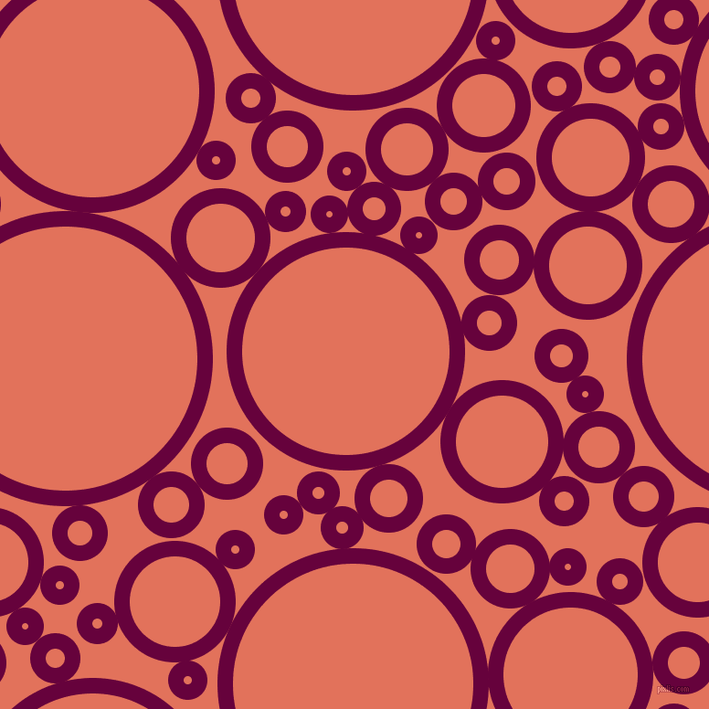 bubbles, circles, sponge, big, medium, small, 17 pixel line width, Tyrian Purple and Terra Cotta circles bubbles sponge soap seamless tileable