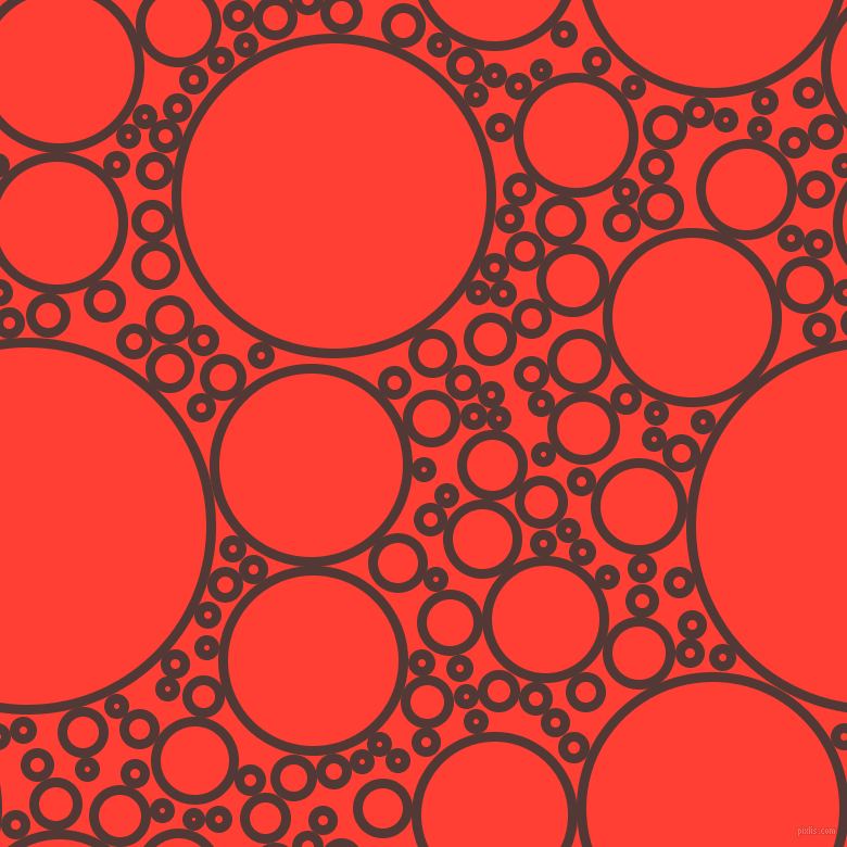 bubbles, circles, sponge, big, medium, small, 9 pixel line width, Van Cleef and Red Orange circles bubbles sponge soap seamless tileable