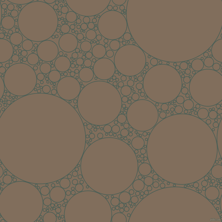 bubbles, circles, sponge, big, medium, small, 2 pixel line width, Viridian Green and Donkey Brown circles bubbles sponge soap seamless tileable
