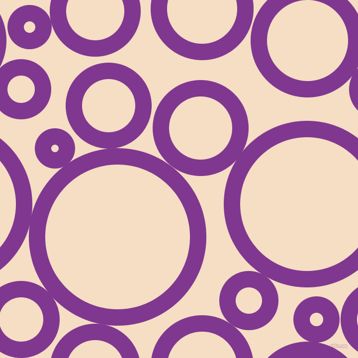 bubbles, circles, sponge, big, medium, small, 33 pixel line width, Vivid Violet and Sazerac circles bubbles sponge soap seamless tileable