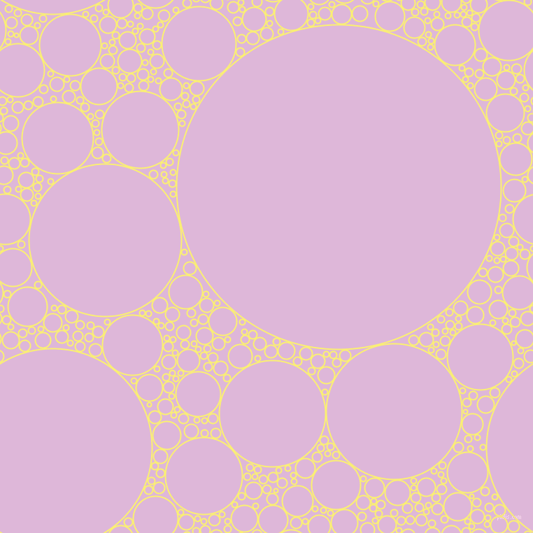 bubbles, circles, sponge, big, medium, small, 2 pixel line width, Witch Haze and French Lilac circles bubbles sponge soap seamless tileable