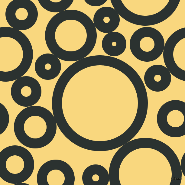 bubbles, circles, sponge, big, medium, small, 33 pixel line width, Woodsmoke and Golden Glow circles bubbles sponge soap seamless tileable