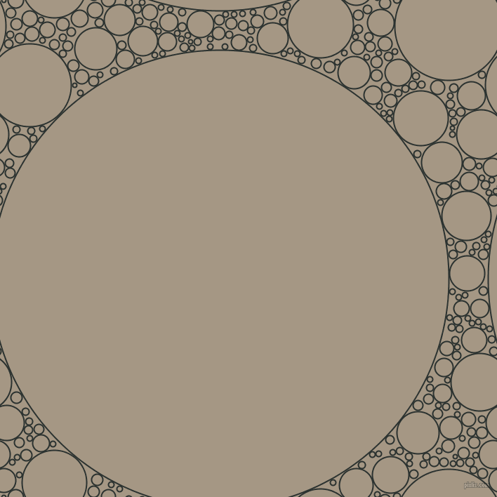 bubbles, circles, sponge, big, medium, small, 2 pixel line width, Woodsmoke and Malta circles bubbles sponge soap seamless tileable