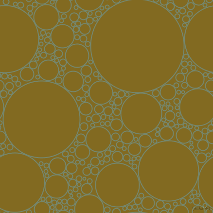 bubbles, circles, sponge, big, medium, small, 2 pixel line width, Xanadu and Yukon Gold circles bubbles sponge soap seamless tileable